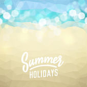Summer holiday tropical beach background — Stok Vektör