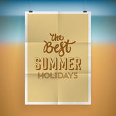 Summer holiday poster design — Stock Vector