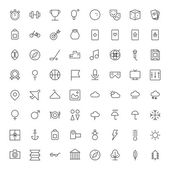 Thin Line Icons For Leisure, Sport, Travel and Weather — Cтоковый вектор