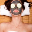 Womale facial mask skincare spa — Stock Photo #26483095