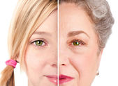 Beautiful Ageing face eyes — Stock Photo