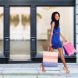 Happy fashion shopping consumer — Stock Photo