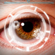 Biometric iris scan security screening — Stock Photo #39024105
