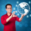 Global network business marketing interface solution — Stock Photo