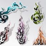 Fire elements set — Stock Vector