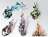 Fire elements set — Stock Vector