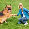 Royalty-Free Stock Photo: Shaking paws with my best friend