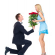 Keeping the romance going strong - Stock Photo