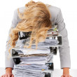Burdened by work! - Stock Photo