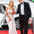 Royalty-Free Stock Photo: Strolling down the red carpet together