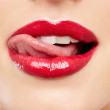 Luscious lips - Stock Photo