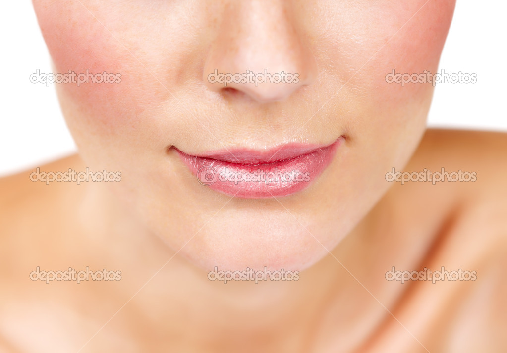 Cropped image of half an attractive young woman's face — Stock Photo #13599253