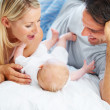 Their new precious bundle of joy - Stock Photo