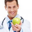 An apple a day keeps the doctor away - Foto de Stock