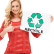 Royalty-Free Stock Photo: For the good of the world! - Recycling