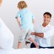 Royalty-Free Stock Photo: Pillow fight!