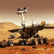 Robotic exploration rover - Stock Photo