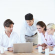 Brainstorming for great corporate solutions - Stock Photo