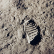 Steps remembered in history - Moon Landing - Stock Photo