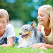 Every family needs a dog - Stock fotografie