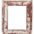 Chipped wooden frame - Stock Photo