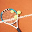 Royalty-Free Stock Photo: Tennis racquet and balls