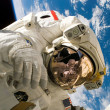 Performing a spacewalk - Stock Photo