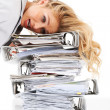 Frantic with stress! - Stock Photo