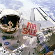 Want to buy a satellite? - Stock Photo