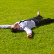 Royalty-Free Stock Photo: Relaxing in greener pastures