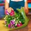 Vivid blooms which will make the perfect gift - Stock Photo