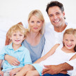 The security of a close family is invaluable - Stock Photo