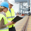 Trustworthy port control for important shipments - Stockfoto