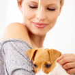 Puppies need a lot of attention - Stock Photo