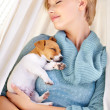 Royalty-Free Stock Photo: Sleeping...while my puppy sleeps in my arms