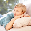 Sleeping on the couch - Stockfoto