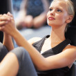I find peace when I'm in the gym - Stock Photo