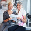 Seniors get great rates at out gym! - Stock Photo