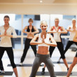 Getting into a good rythym for aerobics - Stock Photo