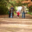 Royalty-Free Stock Photo: Walking in the park with granny and grandpa