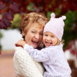 I love my granddaughter so much - Stock Photo