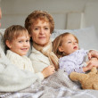 Spending time with the grandkids - Stock Photo