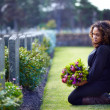 Paying her respects - Stock Photo