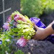 Flowers for a loved one - Stock Photo