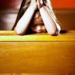 Feeling the power of prayer - Stock Photo
