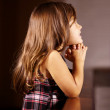 Children&#039;s faith never wavers - Stock Photo