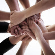 Showing solidarity in their group - Stock Photo