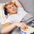 Enjoying a movie - Stock Photo