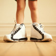 Check out my sneakers! - Stock Photo