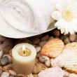 Burning for peace of mind - Spa Treatments - Stock Photo